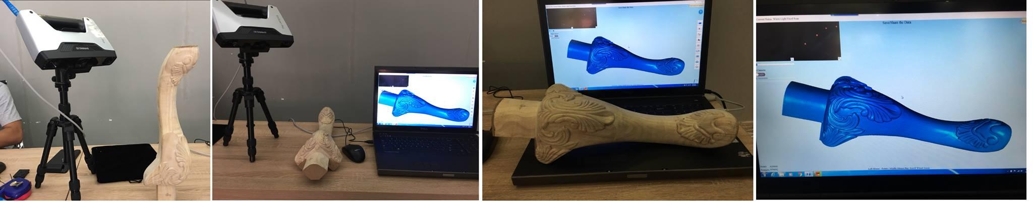 Dịch vụ quét 3D mẫu gỗ độ nét cao của chúng tôi đáp ứng nhu cầu quét từ 100 mẫu / ngày. Số lượng máy có thể sử dụng làm dịch vụ quét 3D là 8 máy quét. Đội ngũ kỹ thuật am hiểu sâu, sử dụng thành thạo các phần mềm xử lý lưới.