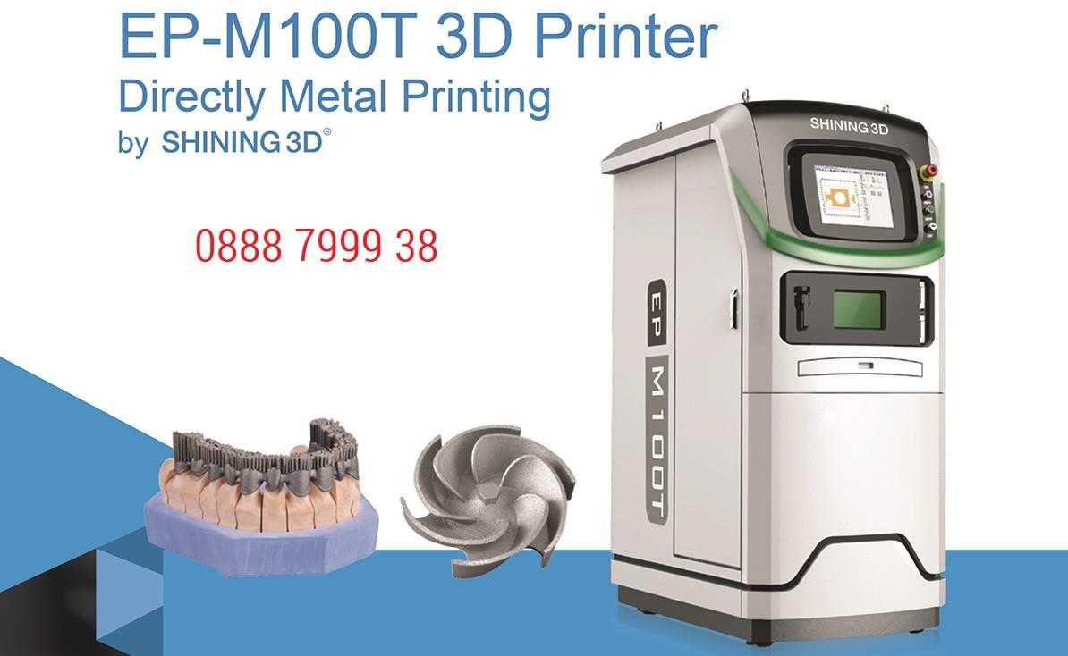 Máy in 3D kim loại EP-M100T | Máy in 3D sử dụng công nghệ in 3D SLM. Ứng dụng trong các ngành nữ trang, nha khoa... máy in 3D kim loại EP-M100T...