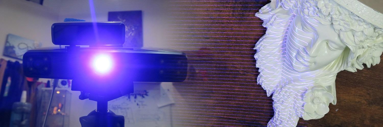 Einscan Pro Plus là máy quét 3D đa chức năng. Máy quét 3D Einscan Pro Plus được sử dụng nhiều trong ngành cơ khí đúc, cơ khí khuôn mẫu và đồ gỗ mỹ nghệ.