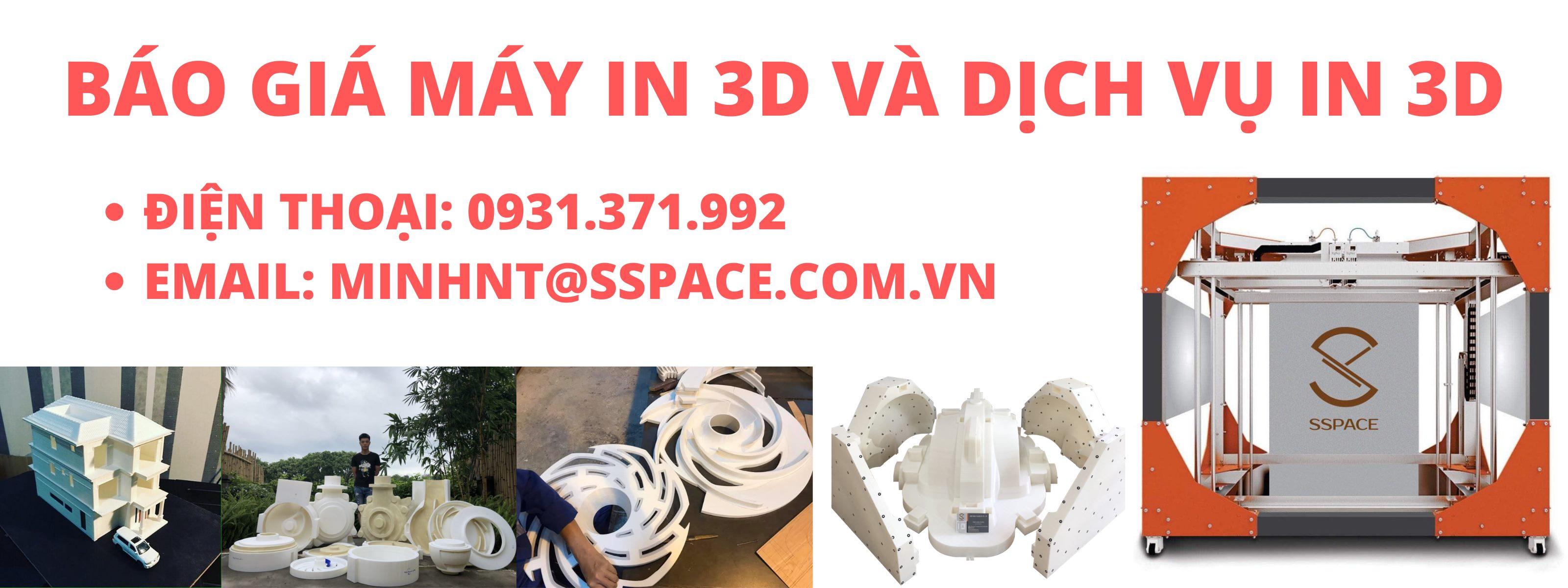 In 3d ở tphcm, ở tp thủ đức ... và các tỉnh lân cận. Giao hàng tận nơi và miễn phí giao hàng cho những đơn hàng lớn, hỗ trợ khách hàng khởi nghiệp, sinh viên các gói in 3d giá rẻ tại tphcm và các tỉnh lân cận. Nhựa in 3D PLA, ABS, nhựa dẻo TPU, cung cấp máy in 3d khổ lớn, máy in 3d mini và nhựa in 3d giá rẻ cho khách hàng có nhu cầu.