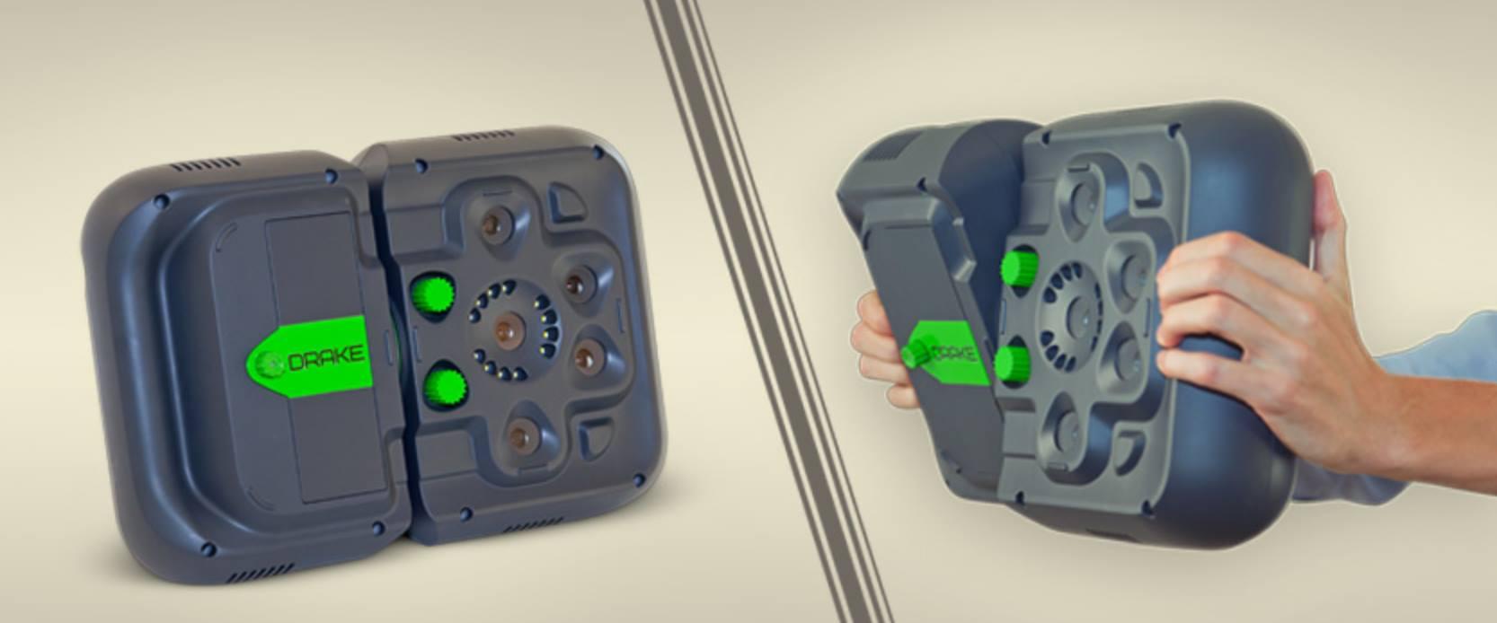 Máy quét 3d cầm tay Drake sản xuất tại Liên Bang Nga sử dụng công nghệ quét ánh sáng. 03 bộ thấu kính có thể thay đổi để quét các mẫu 3D lớn, nhỏ...