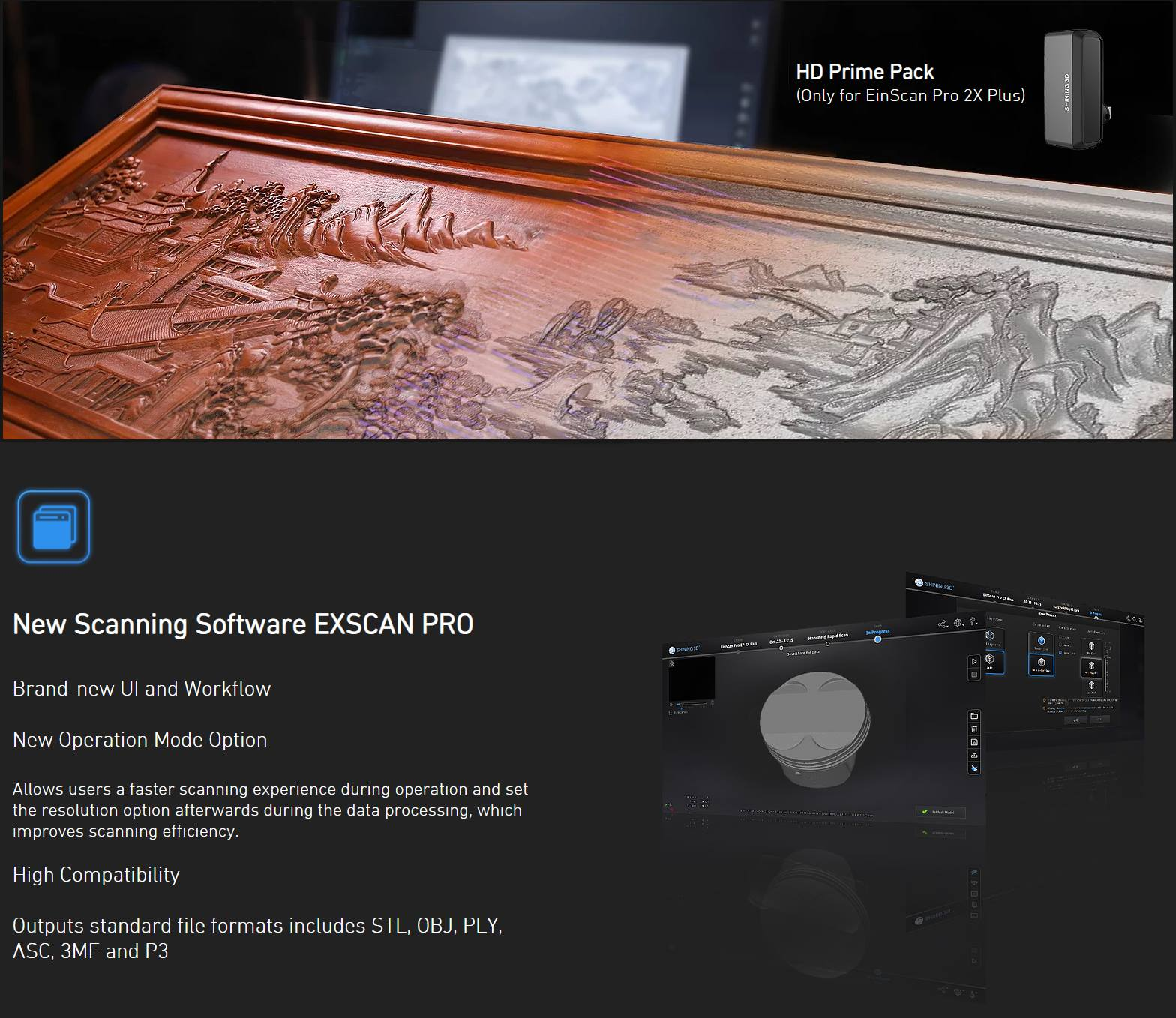 Máy quét 3D EinScan Pro 2X Plus - Tư vấn / BÁO GIÁ / Đào tạo tại Tp Hồ Chí Minh và Hà Nội / các tỉnh lân cận trong lãnh thổ Việt Nam / Máy scan 3d giá rẻ.
