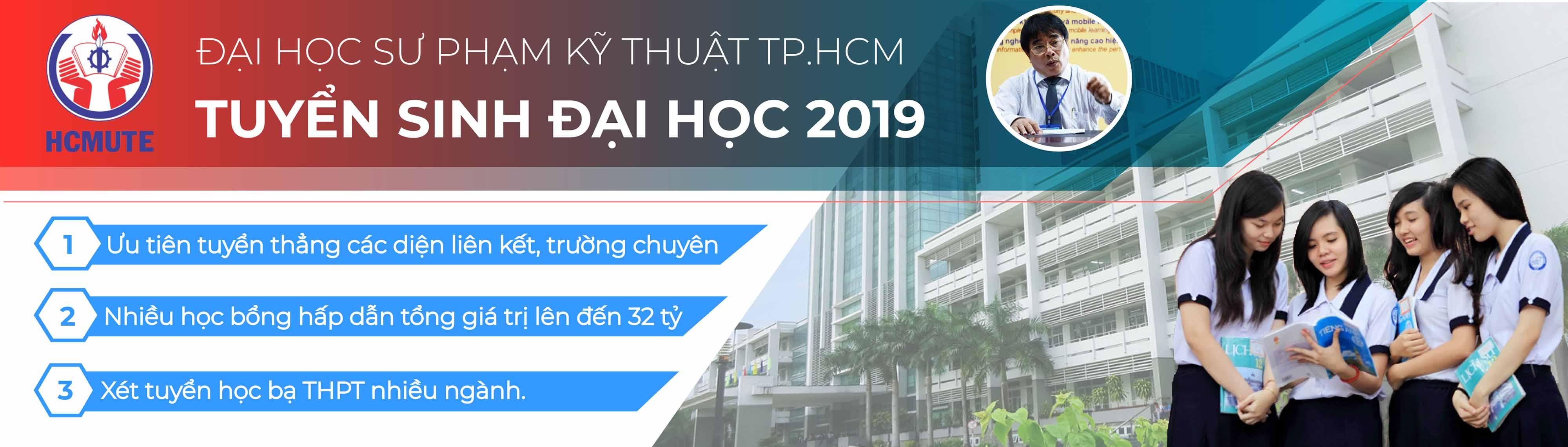 HCMUTE - ĐH SPKT Tuyển sinh 2019   Đại học Sư phạm Kỹ thuật TPHCM