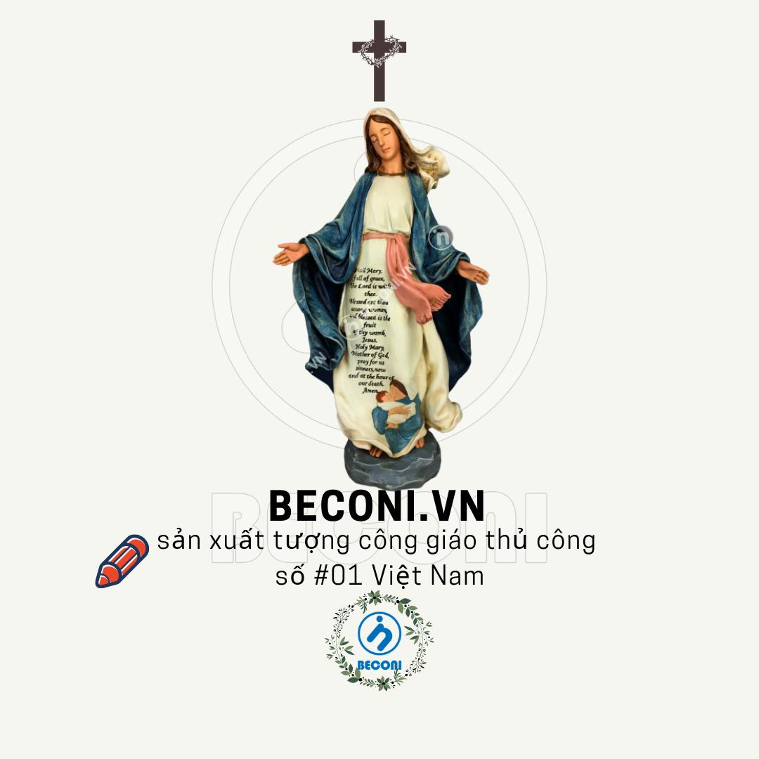 Tượng đức mẹ ban ơn cổ điển cao cấp | Tượng công giáo cao cấp Beconi