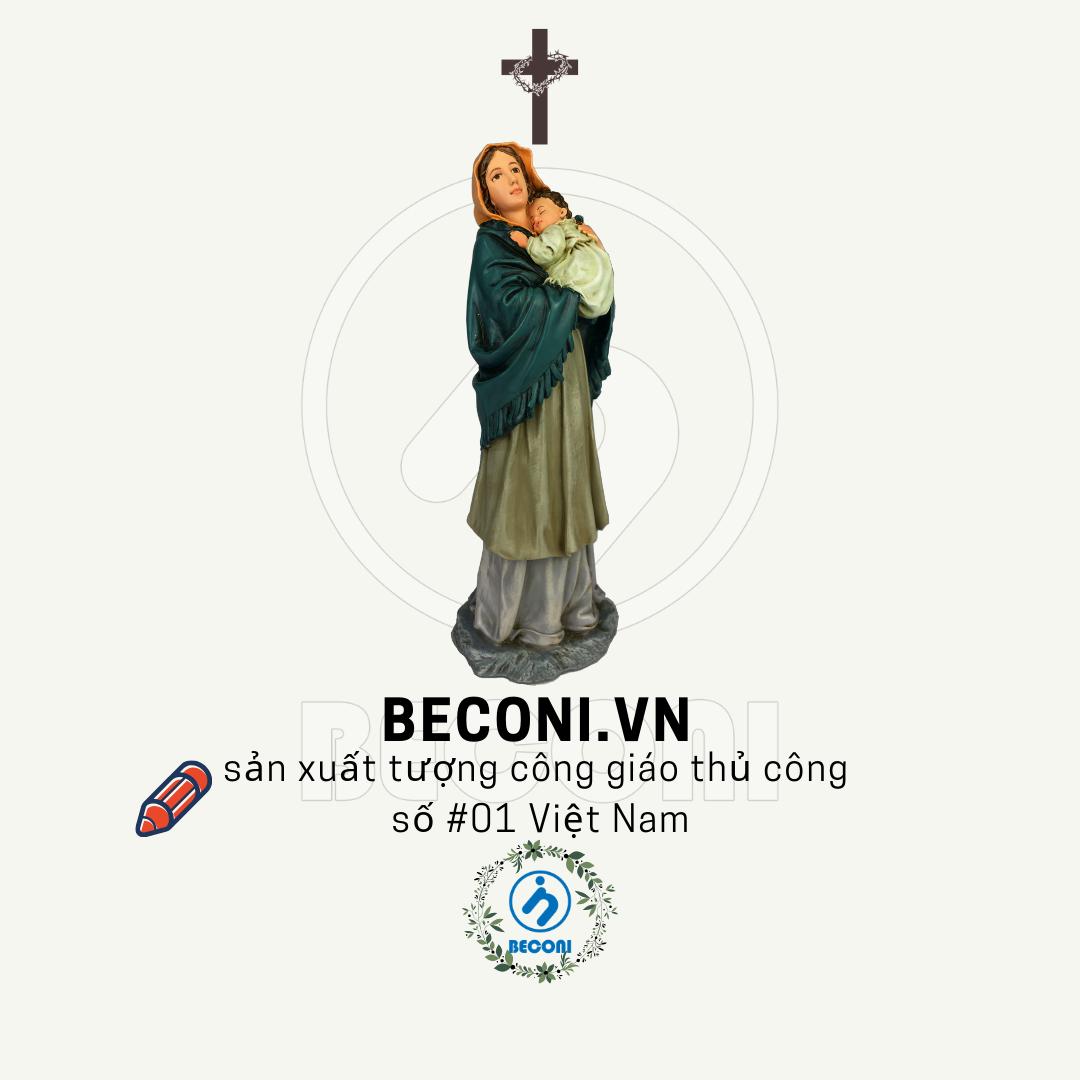 Tượng đức mẹ bế chúa | Tượng công giáo cao cấp Beconi