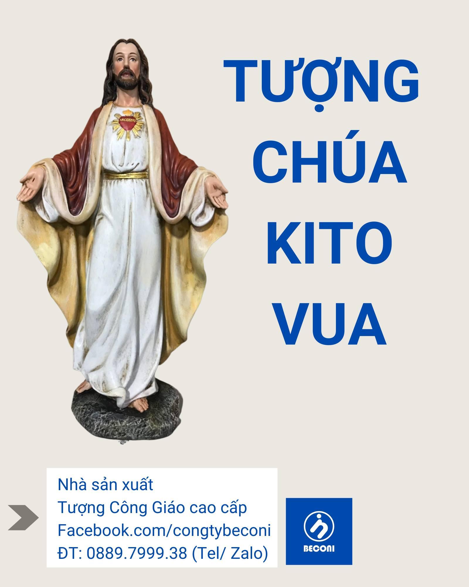 Tượng Chúa Kito Vua Cao Cấp/ Đẹp Nhất. tại Beconi