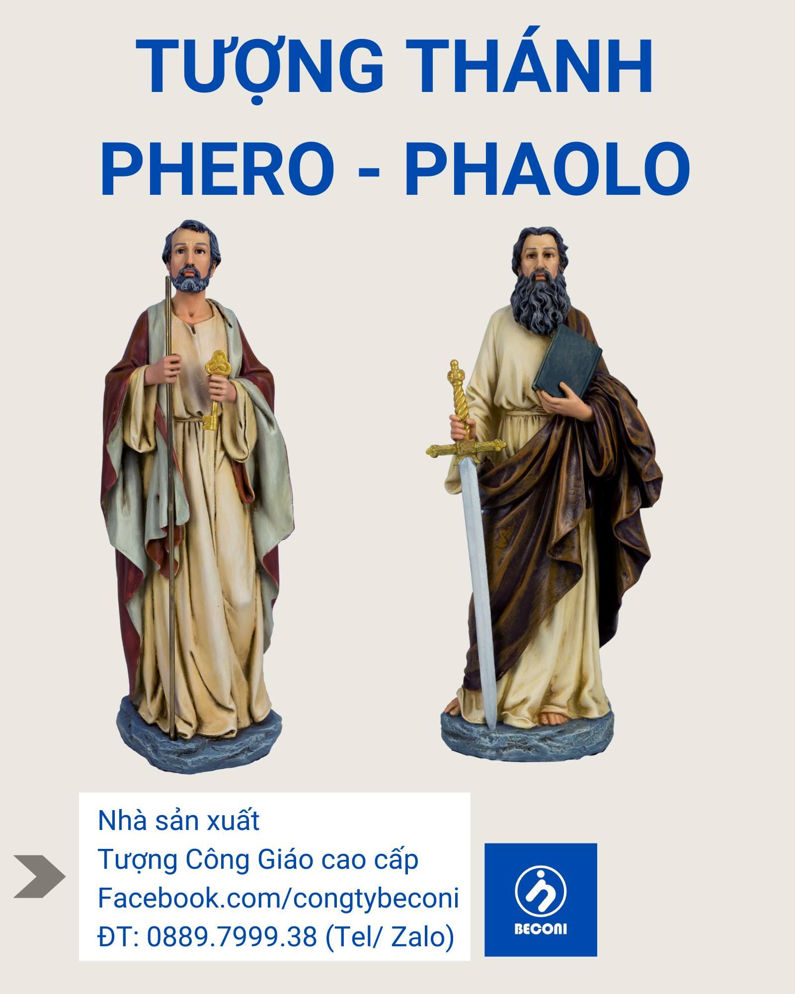 Tượng Thánh Phero / Thánh Phaolo Đẹp nhất - Cổ điển Italia - Beconi